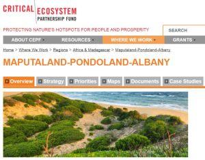 Maputaland biodiversity hotspot